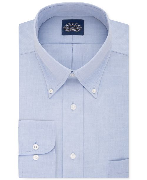 Eagle Men's Classic-Fit Stretch Collar Non-Iron Solid Dress Shirt