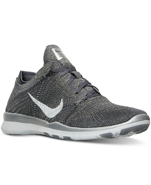 491d69396e81 ... Nike Women s Free 5.0 TR Flyknit Metallic Training Sneakers from Finish  ...