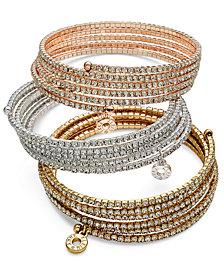 Anne Klein Multi-Row Rhinestone Bracelets