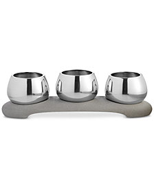 Nambé Forte Collection 4-Pc. Condiment Trio