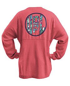 Royce Apparel Inc Women's Louisville Cardinals Floral Monogram Sweeper T-Shirt