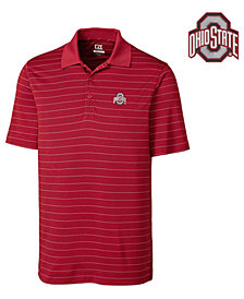 Cutter & Buck Men's Ohio State Buckeyes Drytec Franklin Stripe Polo Shirt