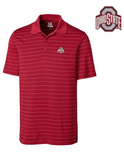 Cutter & Buck Men's Ohio State Buckeyes Drytec Franklin Stripe Polo Shirt