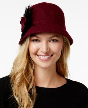 1920s Style Hats August Hats Folk Tale Feather Melton Cloche $23.10 AT vintagedancer.com