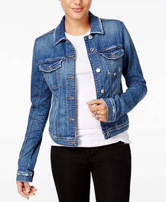 GUESS Classic Denim Jacket - Jackets - Women - Macy's