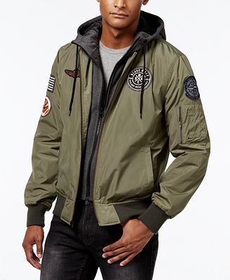 American Rag Men's Hooded Bomber Jacket, Only at Macy's - Coats ...