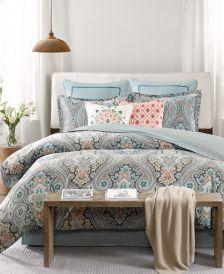 Sterling Floral-Damask Queen Reversible Comforter Set