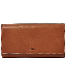 Fossil Emma RFID Leather Flap Wallet