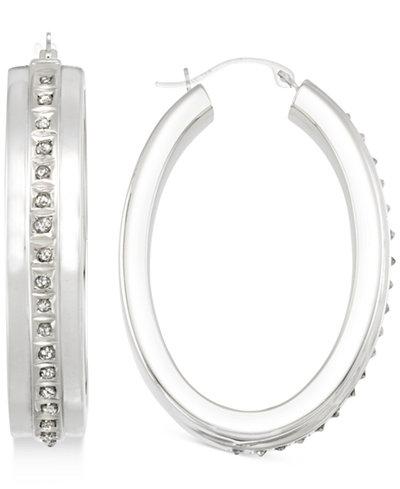 Signature Diamonds™ Hoop Earrings in 14k Gold over Resin Core Diamond and Crystallized Diamond Dust