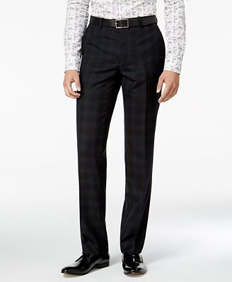 Bar III Men's Slim-Fit Blackwatch Plaid Tuxedo Pants, Only at ...