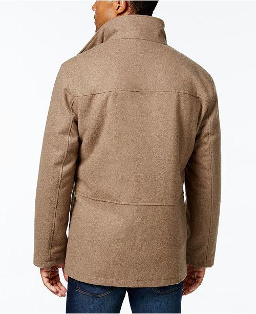 London Fog Men S Wool Blend Layered Car Coat Coats