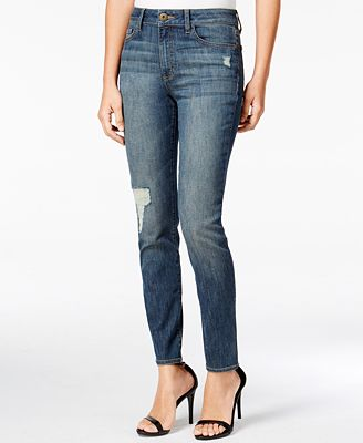 DL 1961 Farrow Distressed Rebellion Wash Skinny Jeans