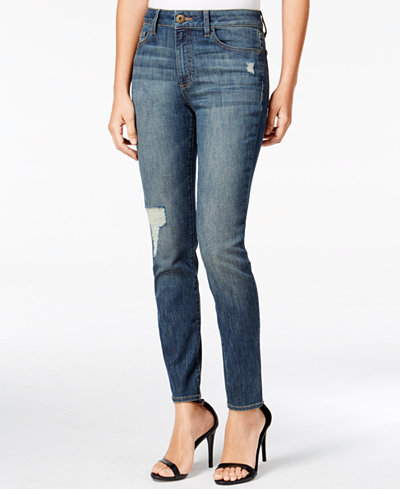 DL 1961 Farrow Distressed Rebellion Wash Skinny Jeans