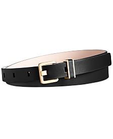 Calvin Klein Flat Strap Skinny Leather Belt