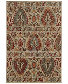 "Tommy Bahama Home Voyage 104W Beige 3' 10"" x 5' 5"" Area Rug"