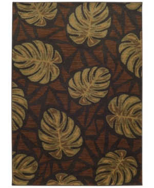 """Tommy Bahama Home Voyage 5994N Brown 7' 10"""" x 10' 10"""" Area"""