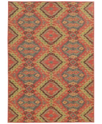 "Cabana Indoor/Outdoor 621C Multi 1' 10"" x 7' 6"" Runner Area Rug"