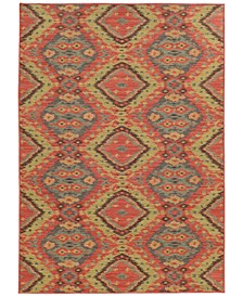 "Cabana Indoor/Outdoor 621C Multi 5' 3"" x 7' 6"" Area Rug"
