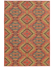 "Tommy Bahama Home Cabana Indoor/Outdoor 621C Multi 1' 10"" x 7' 6"" Runner Area Rug"