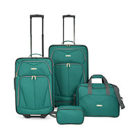 4-Piece Travel Select Kingsway Luggage Set (Green or Navy)