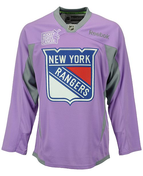 0ceb4348f ... Reebok Men's New York Rangers Hockey Fights Cancer Practice Jersey ...