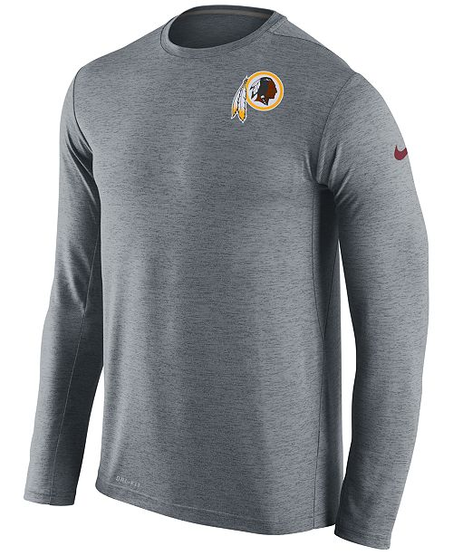 9c70d2688 Nike Men's Washington Redskins Dri-FIT Touch Long Sleeve T-Shirt ...