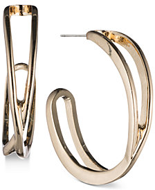 Nine West Openwork J-Hoop Earrings