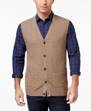 Classic 1940s Men's Suits, Zoot Suits Tasso Elba Mens Chevron Sweater Vest Only at Macys $65.00 AT vintagedancer.com