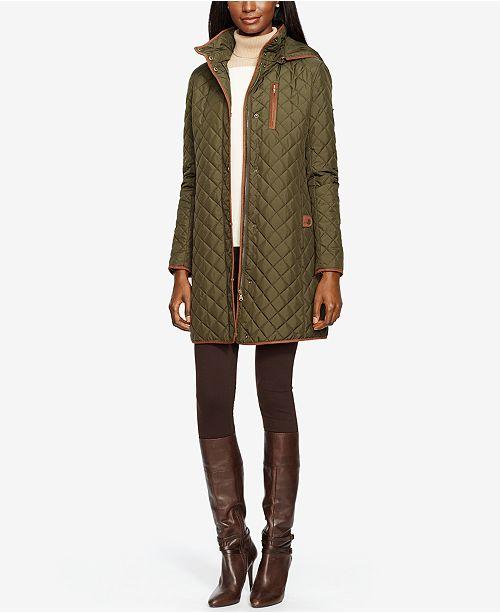 Lauren Ralph Lauren Hooded Quilted Coat Created For Macys Coats