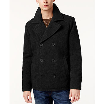 Kenneth Cole Men's Kurt Notch-Collar Pea Coat