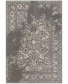 "Loloi Emory EB-01 Charcoal/Ivory 2'5""x7'7"" Runner Area Rug"