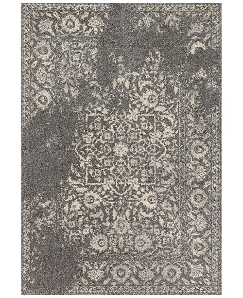 """Loloi Emory EB-01 Charcoal/Ivory 2'5""""x7'7"""" Runner Area Rug"""