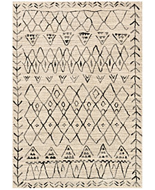 "Loloi Emory EB-09 Heather Gray/Black  2'5""x7'7"" Runner Area Rug"