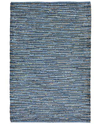 Liora Manne Sahara Indoor/Outdoor Plains Blue Area Rugs
