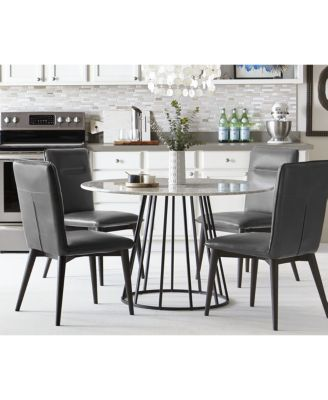 callisto marble round dining table, created for macy's - furniture
