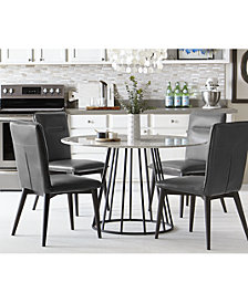 CLOSEOUT! Callisto Marble Round Kitchen Furniture Collection, Created for Macy's