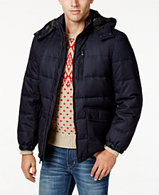 Nautica Men's Big & Tall Hooded Puffer Coat