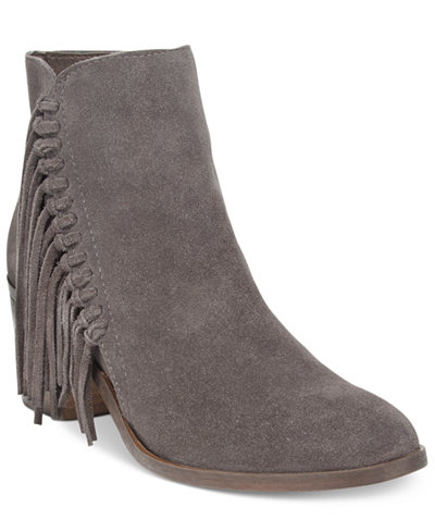 Kenneth Cole Reaction Rotini Fringe Ankle Booties - Boots - Shoes ...