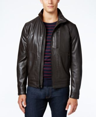 MICHAEL Michael Kors Faux-Leather Bomber Jacket - Coats & Jackets ...