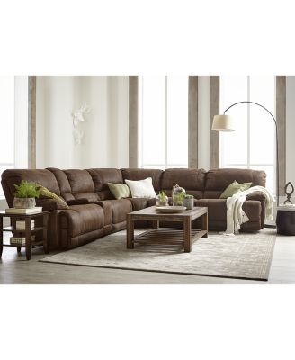 Jedd Fabric Power Reclining Sectional Sofa Collection  sc 1 st  Macyu0027s : brown reclining sectional - Sectionals, Sofas & Couches