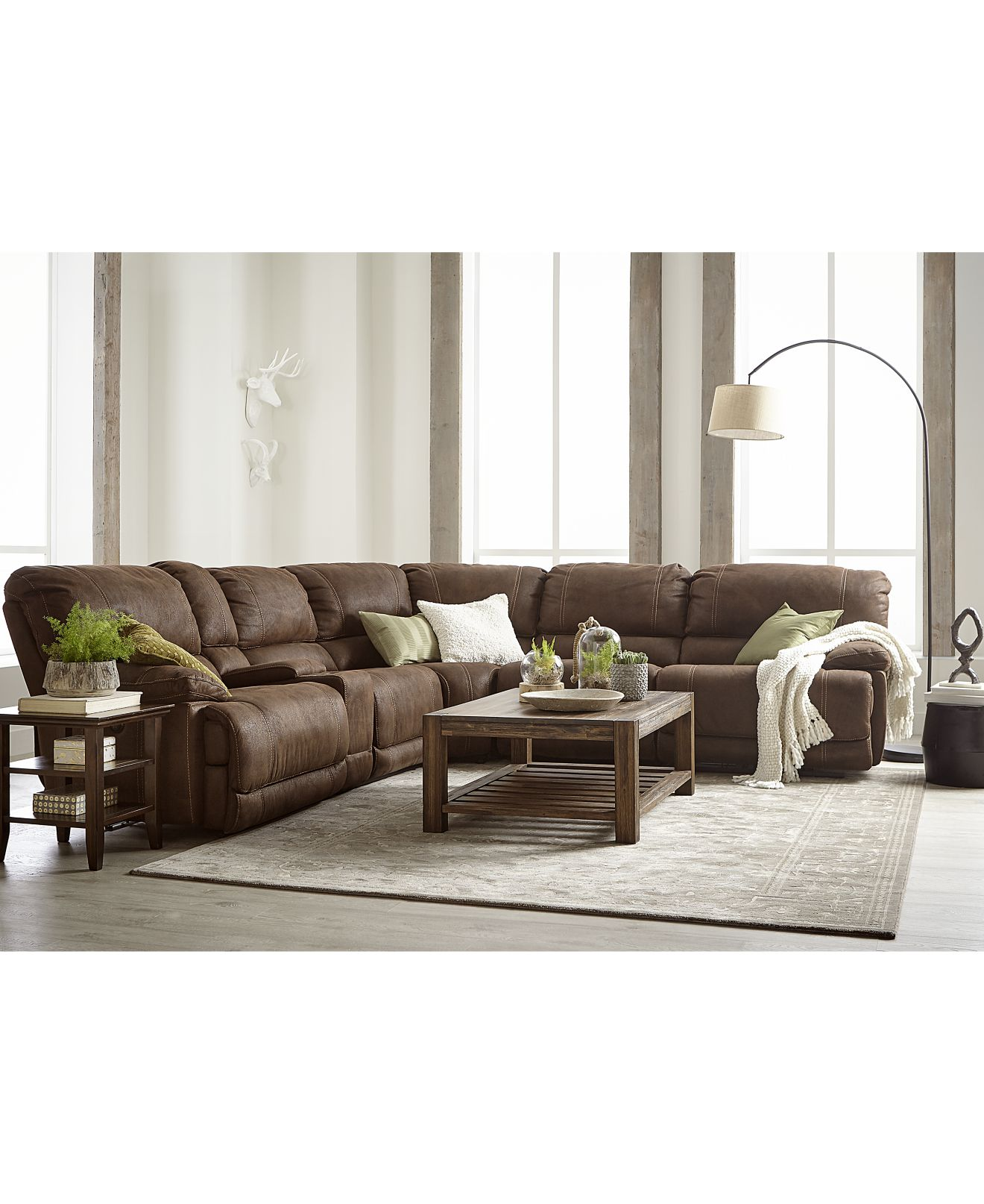 Jedd Fabric Sectional Living Room Furniture Collection Power Reclining