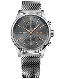 Hugo Boss Men's Chronograph Jet Stainless Steel Mesh Bracelet Watch 41mm 1513440