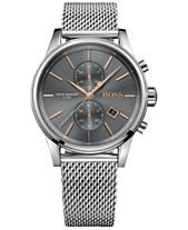 eab1ae19cf57 BOSS Hugo Boss Men s Chronograph Jet Stainless Steel Mesh Bracelet Watch  41mm 1513440