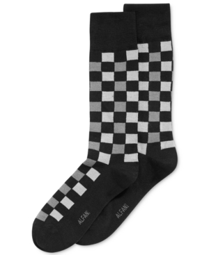 1920s-1950s New Vintage Men's Socks Alfani Spectrum Mens Socks Fashion Block Plaid Casual Crew Socks $7.98 AT vintagedancer.com