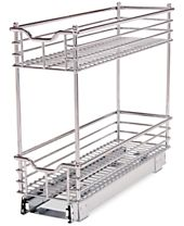 Household Essentials Chrome Glidez Narrow 7-inch Sliding Organizer