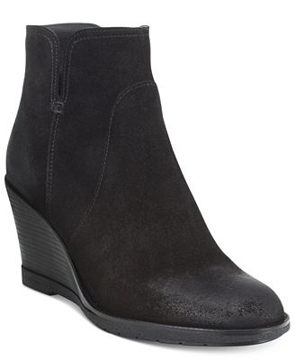 Kenneth Cole Reaction Dot-Ation Wedge Ankle Booties - Boots ...