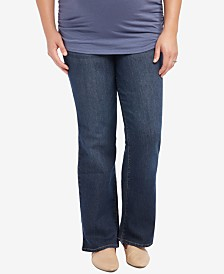 Motherhood Maternity Plus Size Bootcut Dark-Wash Jeans