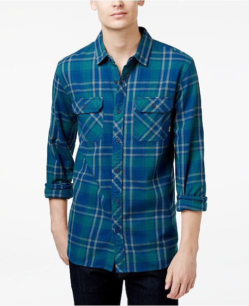 466ad59944 Tavik Men's Long-Sleeve Vincent Plaid Shirt & Reviews - Casual ...