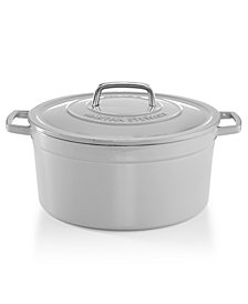 CLOSEOUT! Martha Stewart Collection Collector's Enameled Cast Iron 8 Qt. Round Dutch Oven, Created for Macy's