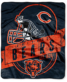"Northwest Chicago Bears 50x60in Plush Throw Blanket ""Grand Stand"""